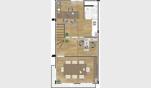 plantas de sobrados até 80 m² 500x292 - Plantas de sobrados até 80 m² para imprimir