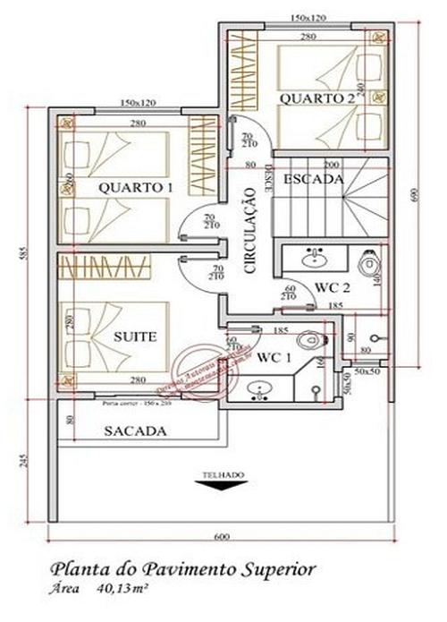 plantas de sobrados de até 90 m² inline 500x695 - Plantas de sobrados de até 90 m² fotos para imprimir