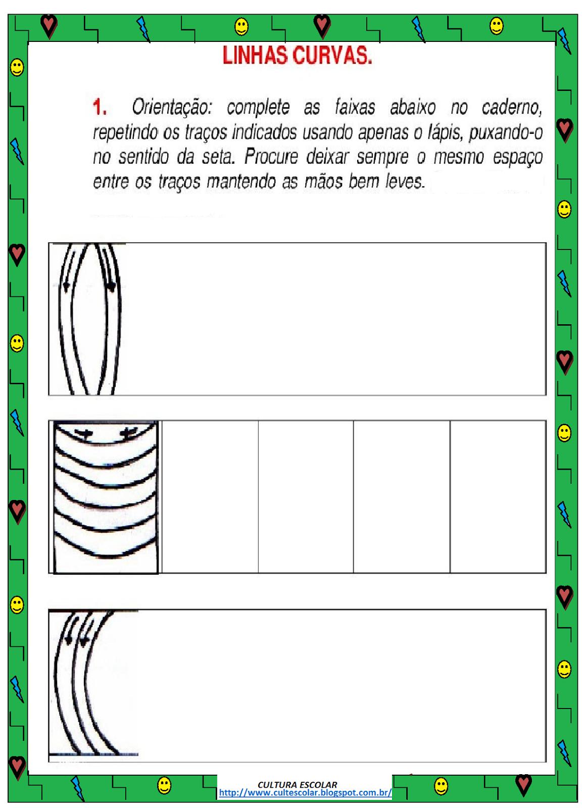 atividades de artes com linhas e formas 2 - Atividades de artes com linhas para aprendizado infantil