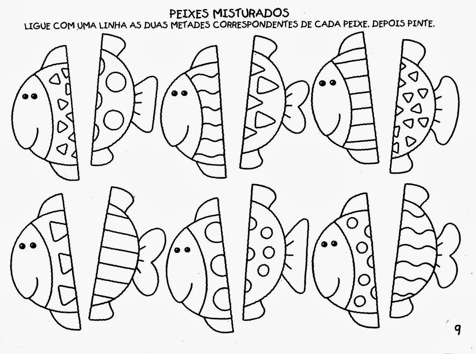 atividades de artes com linhas para imprimir 1 - Atividades de artes com linhas para aprendizado infantil