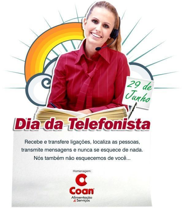 cart%C3%A3o para o dia da telefonista 2 - Frases para Dia da Telefonista valorize a profissional data 29 de junho