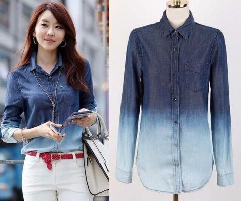 camisa jeans feminina 1 470x392 - Camisa jeans feminina Looks para usar a seu favor