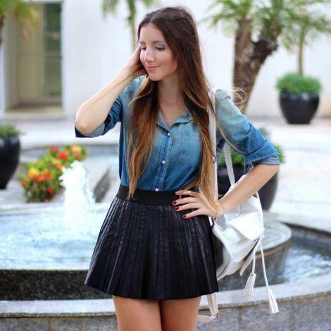 camisa jeans feminina 3 470x470 - Camisa jeans feminina Looks para usar a seu favor