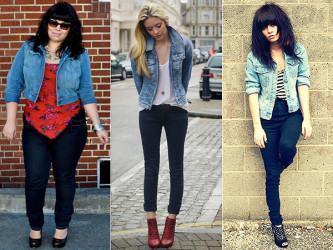 casaco feminino com calça jeans
