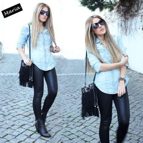 imagem 10 1 470x470 - Camisa jeans feminina Looks para usar a seu favor