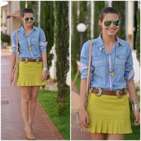 imagem 14 1 470x470 - Camisa jeans feminina Looks para usar a seu favor