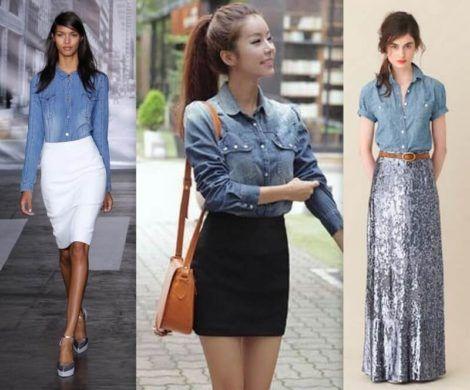 imagem 15 1 470x390 - Camisa jeans feminina Looks para usar a seu favor