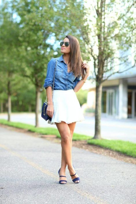 imagem 19 1 470x705 - Camisa jeans feminina Looks para usar a seu favor