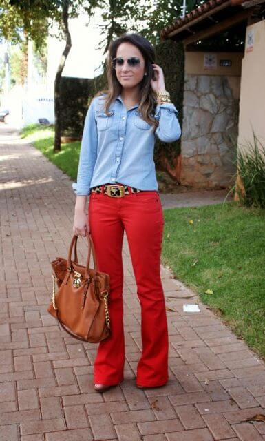 imagem 22 1 - Camisa jeans feminina Looks para usar a seu favor