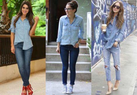 imagem 25 1 470x326 - Camisa jeans feminina Looks para usar a seu favor