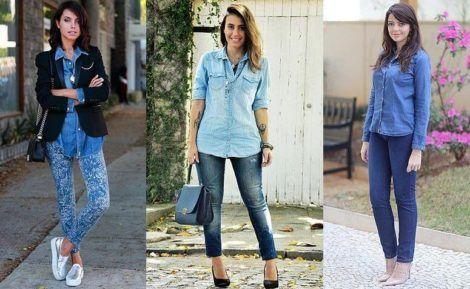 imagem 6 470x289 - Camisa jeans feminina Looks para usar a seu favor