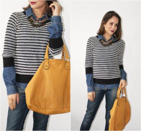 imagem 8 470x436 - Camisa jeans feminina Looks para usar a seu favor