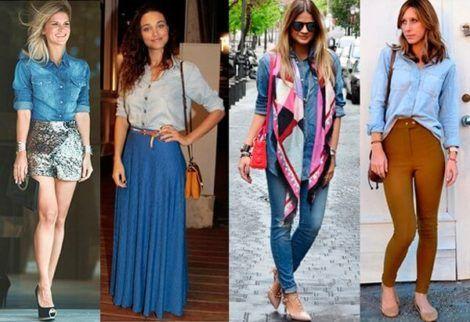 imagem 9 470x322 - Camisa jeans feminina Looks para usar a seu favor