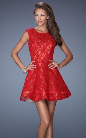 vestidos curtos de renda vermelhos