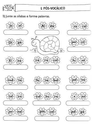 atividades de alfabetização sílaba simples para imprimir