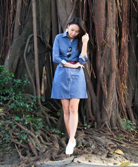 chemise curta jeans 470x565 - CHEMISE JEANS a peça do verão para mulheres modernas