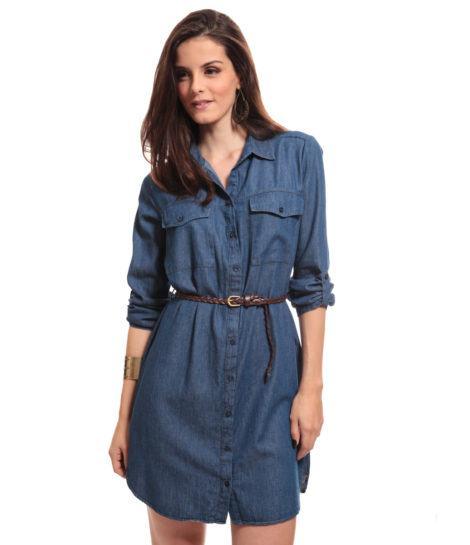 chemise jeans 470x545 - CHEMISE JEANS a peça do verão para mulheres modernas