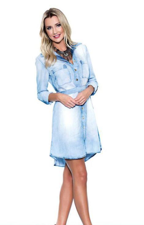 chemise jeans da moda 470x735 - CHEMISE JEANS a peça do verão para mulheres modernas