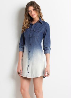 chemise jeans degrade - CHEMISE JEANS a peça do verão para mulheres modernas