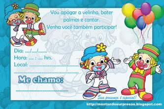 convites de anivers%C3%A1rio do patat%C3%AD patat%C3%A1 para imprimir 333x222 - Convites de aniversário do Patatí Patatá para imprimir