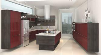 cozinha planejada com ilha no meio