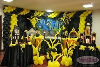 decoração de balões de aniversário do batman