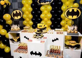 dicas de balões de aniversário do batman