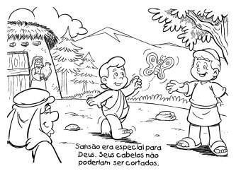 dicas de desenhos de sans%C3%A3o para colorir 333x242 - Desenhos de Sansão para colorir para crianças confira