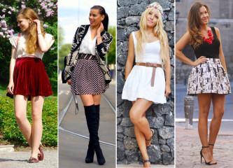 fotos de looks com saias para pernas grossas