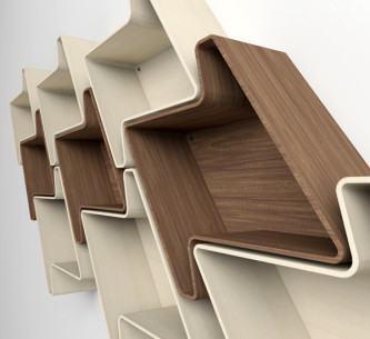 imagens de nichos de madeira para sala