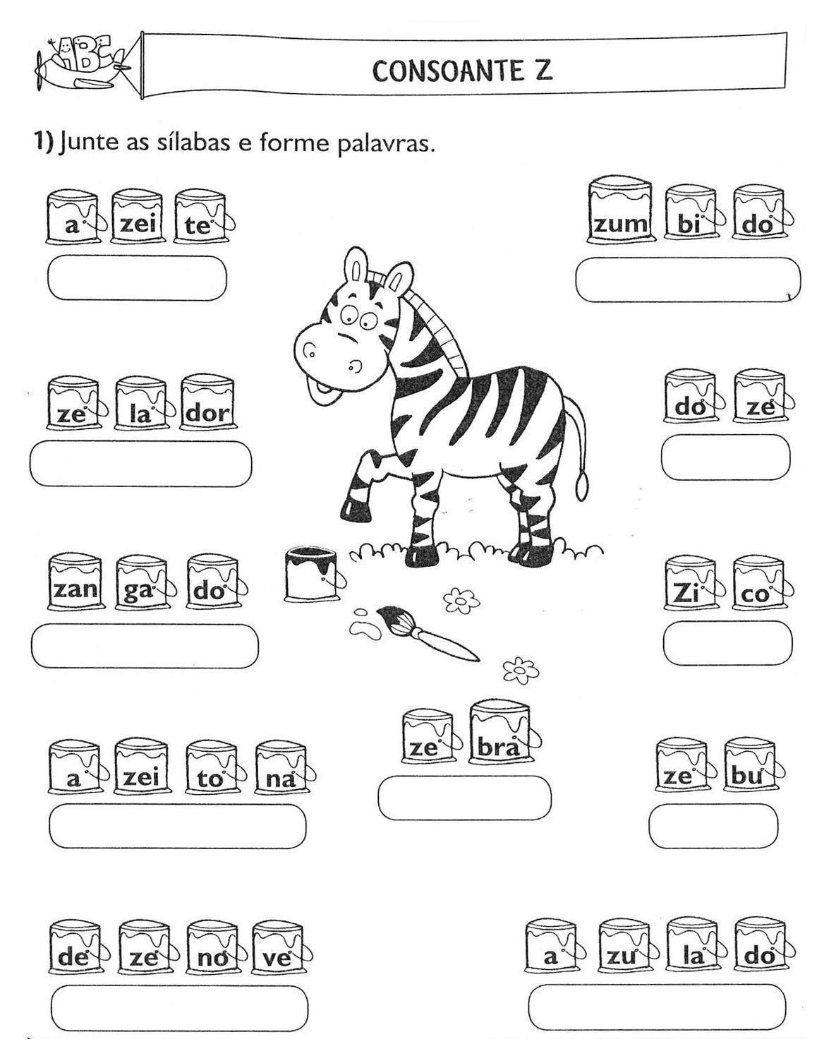 Preferência Atividades de Alfabetização Silaba Simples | Só Detalhe HO82