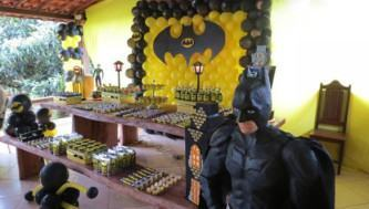 modelos de balões de aniversário do batman