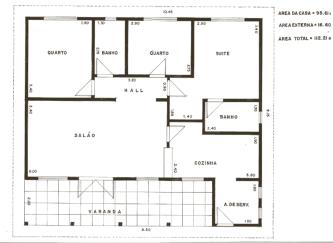 planta de casas com 2 quartos 1 su%C3%ADte com closet para imprimir 333x243 - Planta de casas com 2 quartos 1 suíte com closet