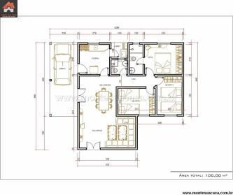 plantas de casas 3 quartos 100 m%C2%B2 333x279 - Encontre Plantas de casas 3 quartos 100 m²