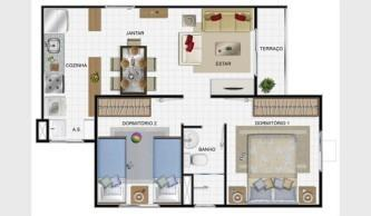 plantas de casas de praia com 3 quartos 333x194 - Modelos de Plantas de casas de praia com 3 quartos