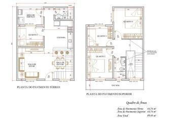 plantas de sobrados com 4 quartos 333x236 - Modelos de Plantas de sobrados com 4 quartos