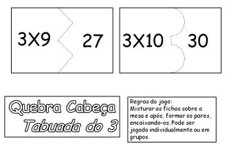 tabuada do 3 para imprimir 333x231 - Tabuada do 3 para colorir e aprender brincando