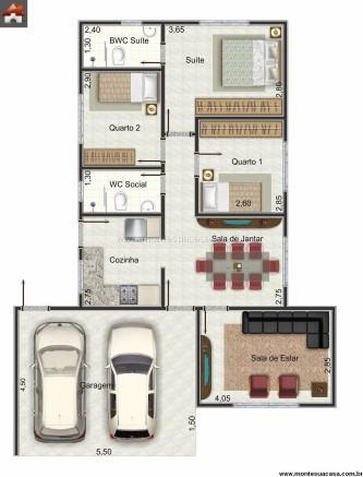 tipos de plantas de casas 3 quartos 100 m%C2%B2 333x437 - Encontre Plantas de casas 3 quartos 100 m²