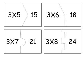 tipos de tabuada do 3 para imprimir 333x231 - Tabuada do 3 para colorir e aprender brincando
