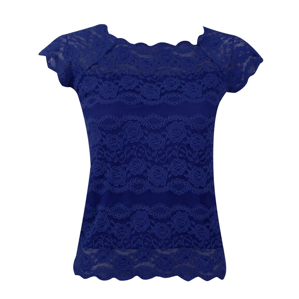 blusas de renda azul lindos modelos para o ver o so detalhe