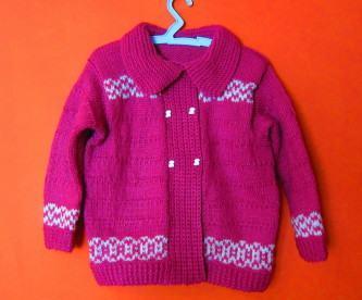 blusas de tricô infantil femininas