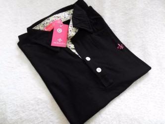camisa pólo dudalina feminina preta