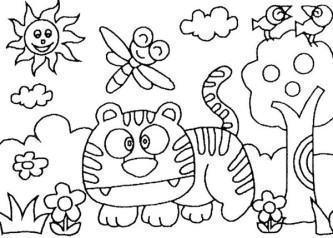 desenhos da primavera para colorir e imprimir