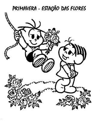 desenhos da primavera turma da monica
