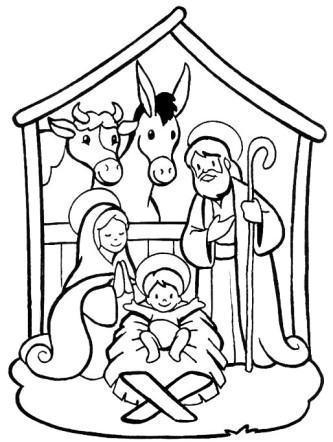 desenhos natalinos para imprimir presepio