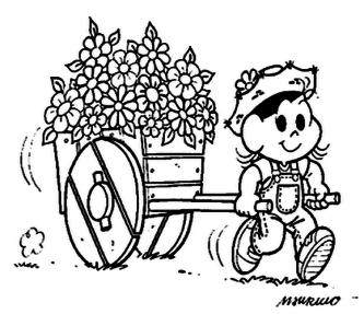 dicas de desenhos da primavera turma da monica