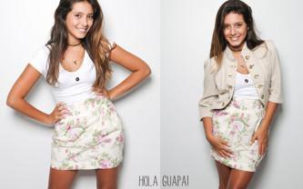 fotos de saias floridas cintura alta