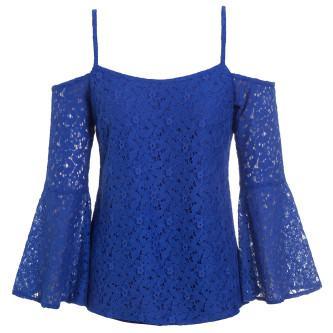 lindas blusas de renda azul