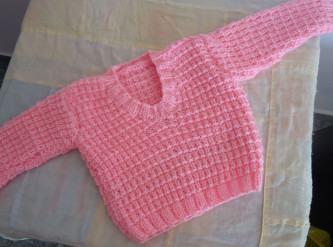 lindas blusas de tricô infantil