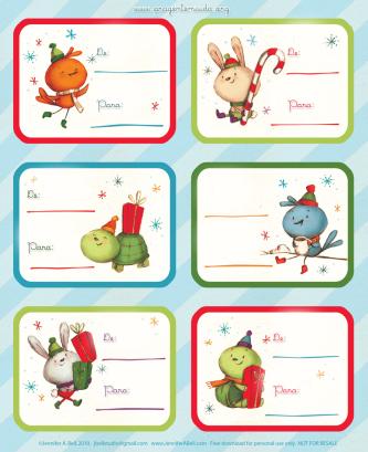 mini cartão de natal para imprimir
